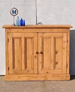 Reclaimed, Pine, Two, Door, Console, Cabinet