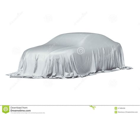 Covered Car by Car Covered With A Grey Cloth Stock Illustration Image