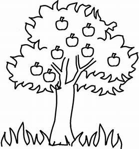 The Thick Apple Tree Coloring For Kids - Tree Coloring ...