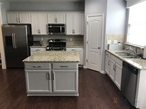 kitchen cabinets  island painted balboa mist  laurel park neighborhood  apex nc
