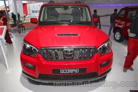 indian car mahindra mahindra scorpio 1 99l diesel front auto expo 2016