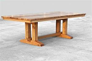 Barnwood trestle dining table reclaimed wood dining table for Barnwood dining tables