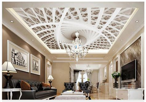 high quality hot sale  customized  ceiling wallpaper