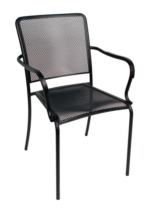 indoor outdoor arm chair w galvanized steel micro mesh