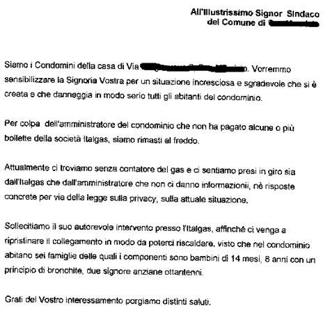 lettera al condominio i proprietari di casa
