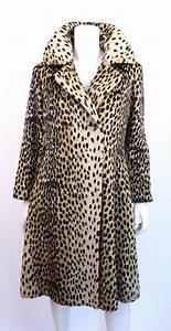 Double F Designer Belt Vintage 60 39 S Quot Safari Quot Faux Leopard Fur Coat At Rice And