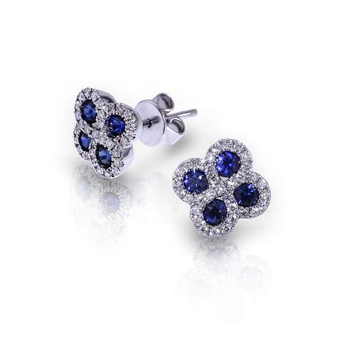 sapphire cluster earrings jewelry designs