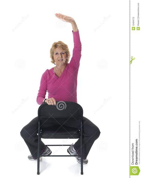 senior on chair stock photography image