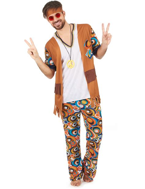 Classic hippie outfit for men - Vegaoo