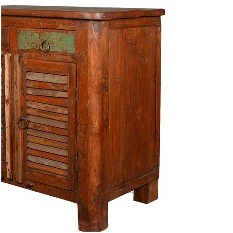 reclaimed wood storage cabinet allendale rustic reclaimed wood shutter door 2 drawer