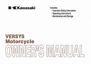 Kawasaki Versys Owner U0026 39 S Manual  U2013 Pdf Download