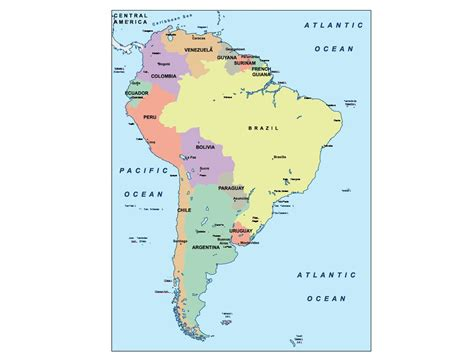 south america presentation map our cartographers have