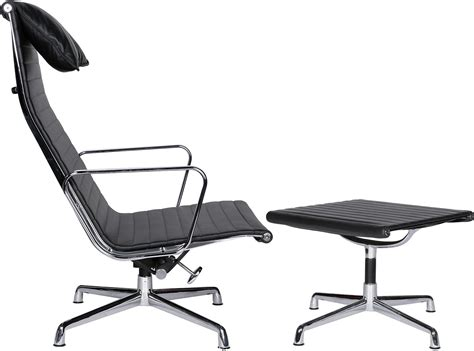 office chair with ottoman eames office chair ea124 aluminum group high back ea125