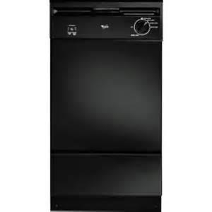 "Whirlpool 18"" Dishwasher Black"