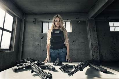 Tactical Rifle Blonde Wallpapers Assault Jeans Guns