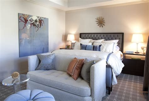 sofa at foot of bed bedroom sofa contemporary bedroom dodson and