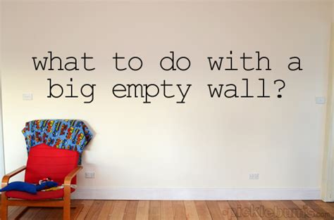 empty kitchen wall ideas what to do with a big empty wall picklebums