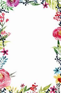 Floral Borders Invitations  Free Printable Invitation Templates