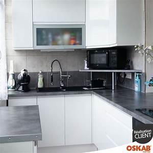 idee relooking cuisine petite cuisine amenagee en l avec With idee deco cuisine avec petite cuisine aménagée