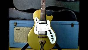 Airline 7214 Amp In Case With Guitar Combo Video Demo Vintage Supro    Valco