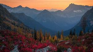Alps, Fall, Forest, Mountain, During, Sunset, Hd, Nature, Wallpapers