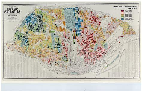 value city st louis single unit structure value per block map 17695