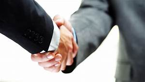 Slow Motion Handshake Of Two Businessmen Agreeing On ...