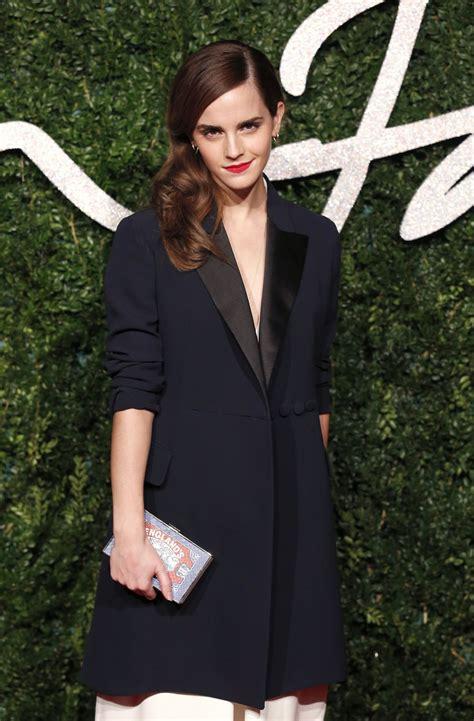 emma watson british fashion awards london hawtcelebs