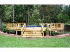 build   ground pool deck part   ground