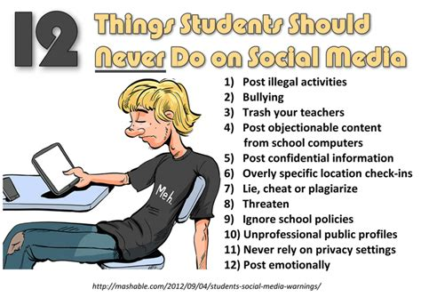 armmewith template 12 things students should never do on social media