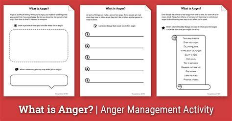 anger activity  children   anger worksheet
