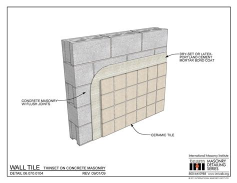Thinset For Porcelain Wall Tile by 06 070 0104 Wall Tile Thinset On Concrete Masonry