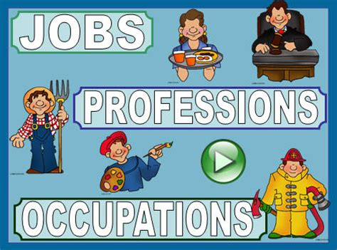 Jobs, Professions And Occupations