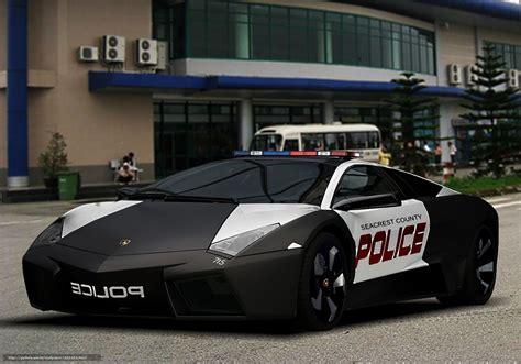 hintergrund auto polizei lamborghini autos