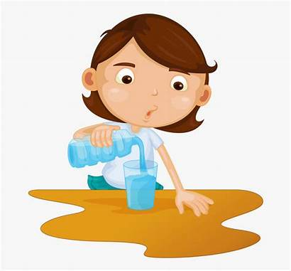 Pouring Water Pour Clipart Soloveika Glass Vector