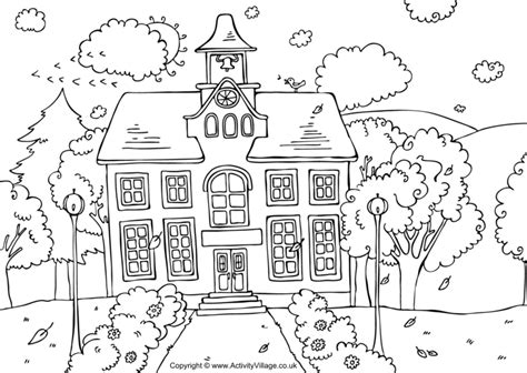 printable   school coloring pages