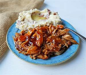 Slow Cooker Chicken With Sweet Peach Barbecue Glaze
