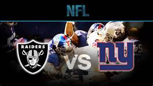 new york giants vs oakland raiders highlights gallery