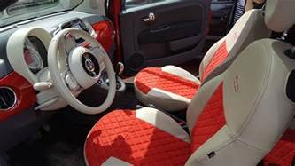 Fiat 500 Seat Covers by Seat Covers For Fiat 500 Lounge Velcromag