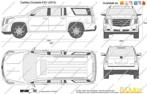 cadillac escalade esv vector drawing