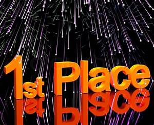 1st Place Word And Fireworks To Show Winning And Victory ...
