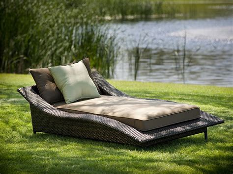 outdoor patio furniture chaise lounge calle all weather resin wicker chaise lounge 110