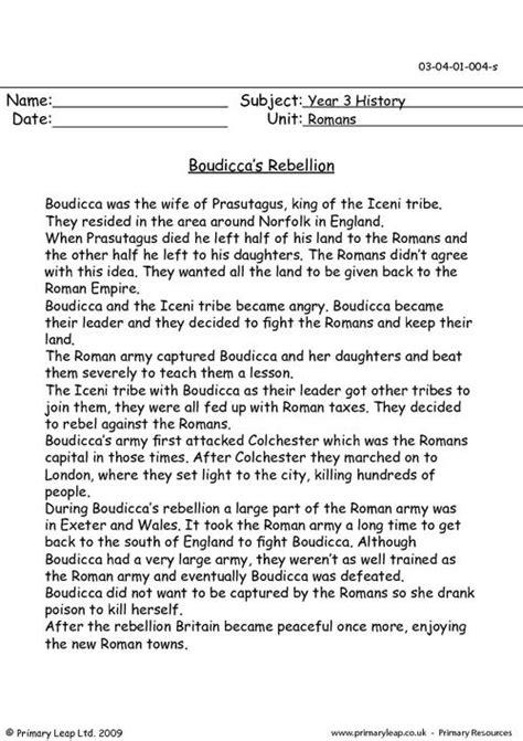 Boudicca's Rebellion Primaryleapcouk