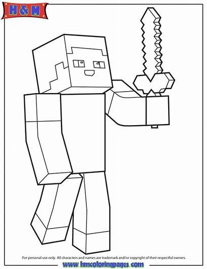 Minecraft Coloring Pages Steve Printable Sheets Boys