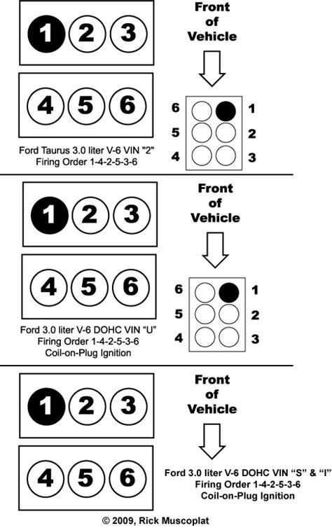 2003 3 8 Mitsubishi Wire Diagram by Ford 3 0 Firing Order Ricks Free Auto Repair Advice