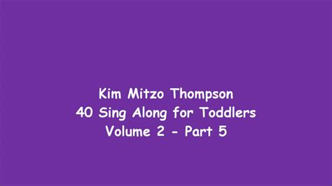 40 Sing Along For Toddlers Volume Two