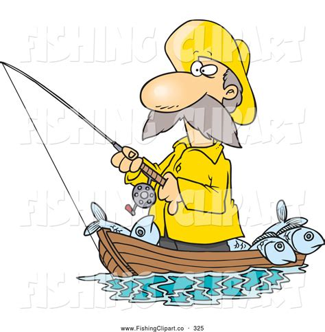 Fishing Boat Cartoon by Cartoon Fisherman Fishing