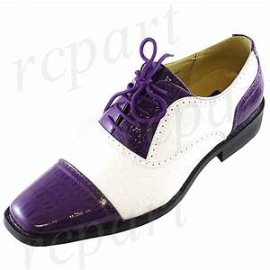 new men39s dress shoes fashion formal lace up purple white With purple dress shoes for weddings