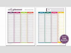 Dynamic Weekly Planner Excel Template Savvy Spreadsheets
