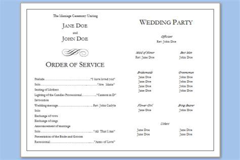 exles of wedding programs templates program template beepmunk